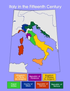 Secular and Papal States of Italy at Year 1500 C.E. -- ucalgary.ca (click on the image)
